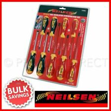 9pc Insulated Screwdriver Set VDE GS Slotted Phillips Electricians Screwdrivers