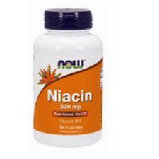Vitamin B-3, Niacina, 500mg x 100Caps, Now Foods, 24Hr Envío