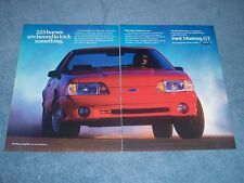 """1990 Mustang 5.0 Litre Vintage 2pg Ad """"225 Horses are Bound to Kick Something."""""""