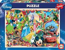 EDUCA JIGSAW PUZZLE DISNEY'S WORLDS 1000 PCS PRINCESSES FAIRIES MICKEY #15555