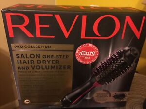 NEW REVLON  PRO Collection Salon One Step Hair Dryer and Volumizer Brush Pink