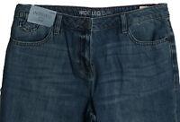 New Womens Blue Wide Leg NEXT Jeans Size 14 12 10 8 Long Regular Petite RRP £30