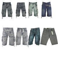 Men's Eto Jeans Denim Summer Shorts Cargo Combat Multi Pockets All Waist 28 -48