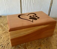 Large Wood Pet Cremation Urn Engraved, Personalize