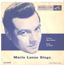 MARIO LANZA--PICTURE SLEEVE + 45--(IF YOU WERE MINE)---PS---PIC---SLV