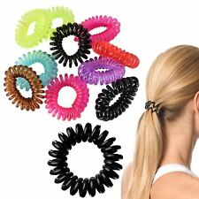 10pcs Spiral Girls Hair Bobble Band Rope Elastic Rubber Tie Slinky Coil Ponytail