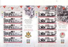 Isle of Man-World War II-60th Anniv of End-Churchill-4 special sheet mnh-2005