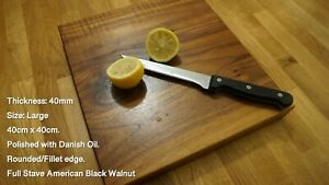 Bespoke American Black Walnut Chopping Boards. 27mm & 40mm Thickness.