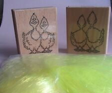 Creative Expressions Ducks Wood Mounted Stamps and Fantasy Fibres