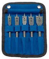 Draper Flat Wood Bit Set (5 Piece) 17426 13mm,16mm, 18mm, 19mm, 25mm Impact.