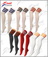 Ladies Womens Girls Thigh High Over The Knee Referee Socks One Size UK 4-6 Σ