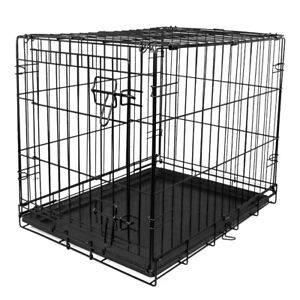 """Vibrant Life Single-Door Folding Wire Dog Crate with Divider- 36""""H, 42""""H"""