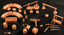 Marx Recast Foreign Legion Accessories - 54mm unpainted plastic toy soldiers