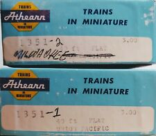 Lot 2 Athearn 1351 Union Pacific 40' Flat car 50589 In Box
