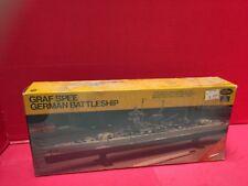 Graf Spee German Battleship 1/720 Scale Testors Italeri 1979 Model Set
