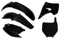 Racetech Plastic Kit Black Kawasaki KX250 KX125 2003 2004 2005 2006 2007 2008