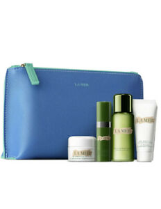 New La Mer 5 Pc Travel Set Moisturizing Cream, Serum, Treatment Lotion,  Mask