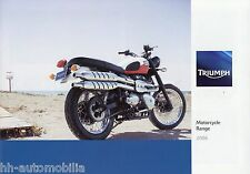 Triumph Motorcycle Range Prospekt 2006 Thruxton Daytona 955i 675 Rocket III moto