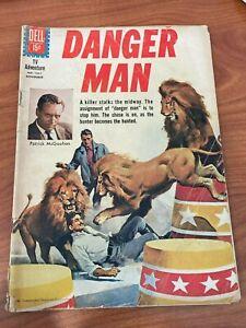 Danger Man #1231 Dell Comics Four Color 1961 SCARCE GD+