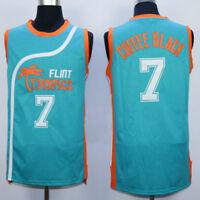 Flint Tropics semi pro Movie 7# 11# 33# 69# Basketball Jerseys Green white