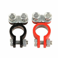 2 x Aluminum Alloy Car Auto Truck Metal Battery Terminal Universal Link New