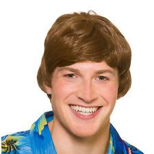 Hawaiian Beach Boy Da Uomo Estate Party Costume Parrucca Corta Marrone