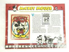 VINTAGE MICKEY MOUSE 1928 DISNEY PATCH MOVIE FACT SHEET