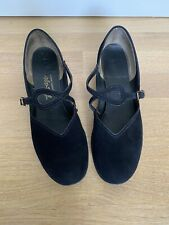 Vintage Shoes Black Suede Size 6 Teenage Buster Brown
