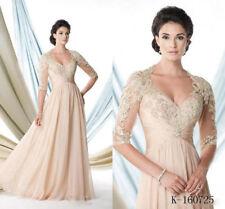 V Neck Mother Of The Bride Dresses Evening dress Chiffon Formal Dress custom