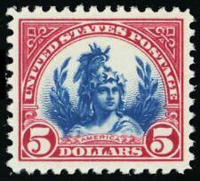 """573, Mint Superb NH $5 """"America"""" Liberty - A GEM - Stuart Katz"""