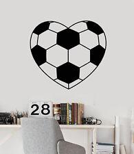 Vinyl Wall Decal Art Soccer Ball Heart Player Fan Stickers (1765ig)