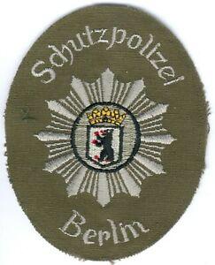 German Police/Berlin City Patch old green Uniform, 50/60Year´s RARE, I/II