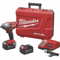 Milwaukee M18 FUEL 2861-22 Cordless Brushless 1/2in Mid-Torque Impact Wrench Kit