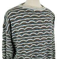 Vintage Megalos Crew Neck Acrylic Sweater XLT Coogi Style Hip Hop Biggie Cosby