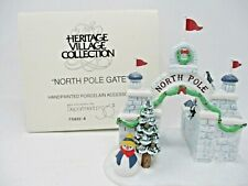"Dept.56 Heritage Village Collection ""North Pole Gate"" Porcelain Accessory"