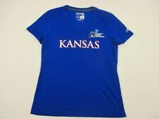 adidas Kansas Jayhawks - Blue Poly Short Sleeve Shirt (M) - Used