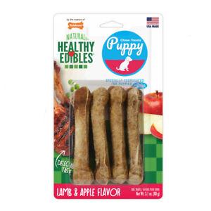 Nylabone Healthy Edibles Puppy Natural Dog Chew Treats Lamb & Apple Flavor