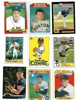 Roger Clemens TOPPS lot 0f 27 baseball cards all Different boston redsox