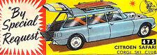 Corgi 475 Citroen Safari Ski Club Empty Repro Box Only
