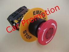 Not Aus Schalter mit Pilzkopf Rot rastend 230 Volt Geräteschalter Notschalter