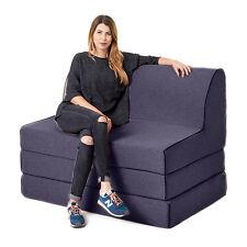 Sapphire Olivia Fold out Foam Z Chairbed Sofa 2 Seater Folding Futon Mattress