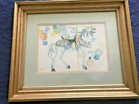 Print by Giuseppe Di Leo - A Carousel Horse - Signed in the Plate -Hand Numbered