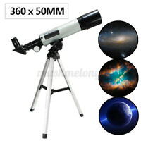 US F360x50 Astronomical Telescope Monocular Space Tripod Tube Refractor Len Spot