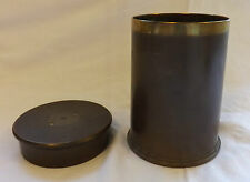 Military WWI Unusual Trench Art Jar Lidded Container Dated 1915 (2922)