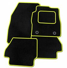 VAUXHALL ADAM 2013 ONWARDS TAILORED CAR FLOOR MATS- BLACK WITH YELLOW TRIM