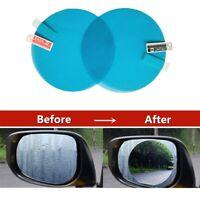 1Pair Car Anti Water Mist Anti Fog Rainproof Window Protective Film Stiker Round
