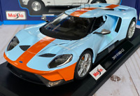 2019 FORD GT Gulf Oil Livery Maisto 1:18 Diecast Metal Model Collectible Car NIB