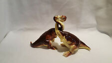 Vintage Iguanodon Dinosaurs with Intertwining Necks Salt and Pepper Shakers