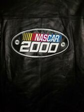 NASCAR 2000 LEATHER BIKER STYLE JACKET SIZE XL