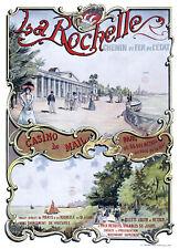 Affiche chemin de fer Etat - La Rochelle